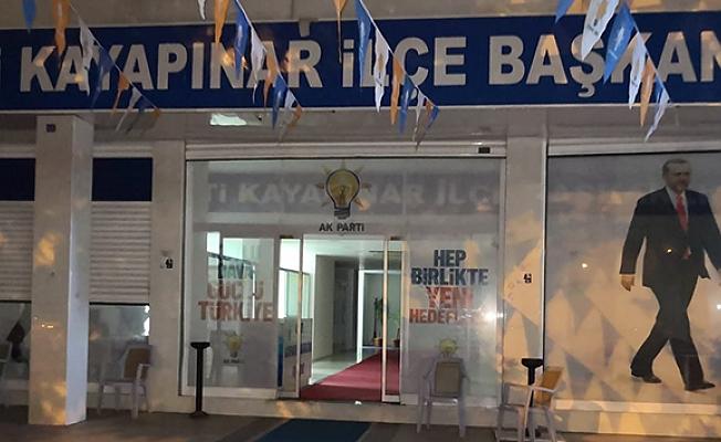 AK Parti Kayapınar İlçe Başkanlığına EYP'li Saldırı.