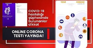 Online Corona Virüs Testi Yayında