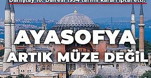 bAyasofya#039;da İbadetin Yolu Açıldı/b
